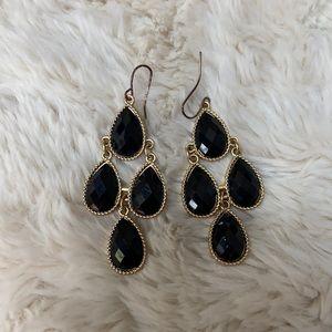 Black dangly earrings